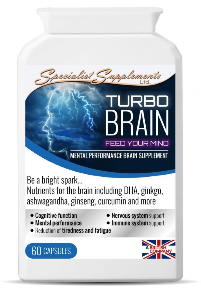 Turbo Brain x 60 Capsules;  Mental Performance; Specialist Supplements